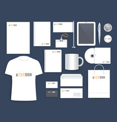 Corporate identity template for business company vector