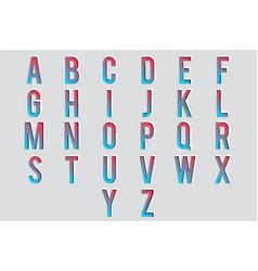 cutout paper letters 3d alphabet design vector image