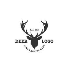 Deer logo designs inspirations hunting club logo vector