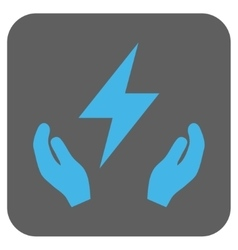 Electricity Maintenance Hands Rounded Square vector