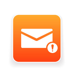 Email icon with exclamation mark vector