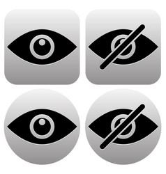 eye symbols as show hide visible invisible public vector image