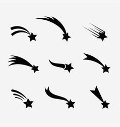 Falling stars set vector