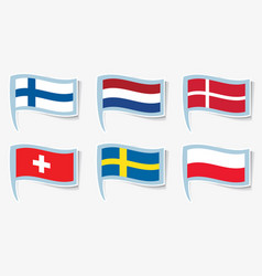Flags flags finland netherlands vector