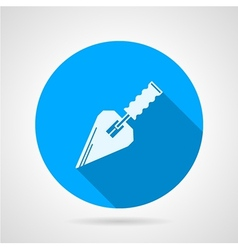 Flat icon for construction trowel vector image