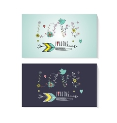 Floral elements of vintage Prase love is loading vector