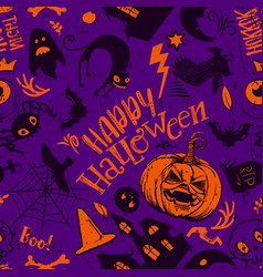 fun halloween seamless pattern vector image