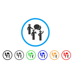 gentlemen discussion rounded icon vector image