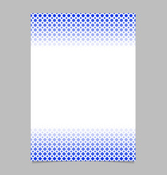 geometric halftone pattern poster template - page vector image