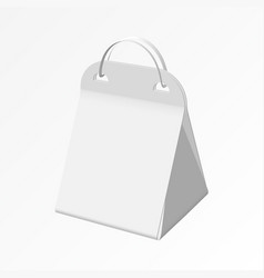 gift bag with a rope handle on a white background vector image