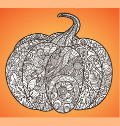 halloween pumpkin anti-stress coloring page vector image