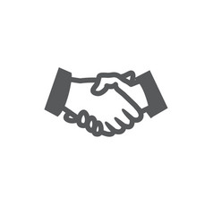 handshake icon on white background vector image