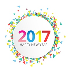 Happy New Year 2017 label vector image
