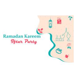 Happy ramadan kareem iftar party theme vector