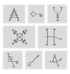 Icons with Medieval Alchemical Signs vector