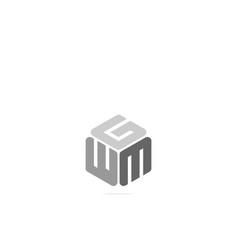 Initials w g m icon logo design template vector