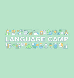 international language camp word concepts banner vector image
