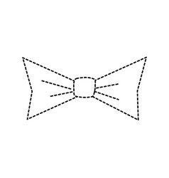 Isolated bowtie design vector
