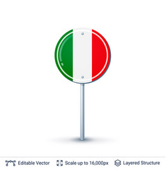 italy flag isolated on white vector image