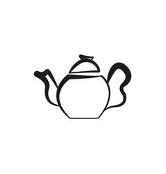 kettle for coffee teapot icon hand made vector image