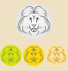 lion icon vector image