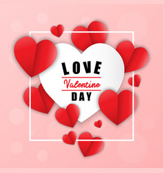 love for valentines day happy valentines day and vector image