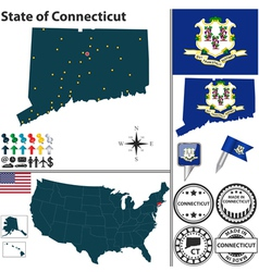 Map of Connecticut vector