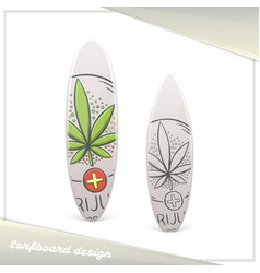 Medical marijuana surfboard nine vector