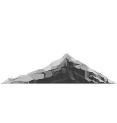 mountain large rock and stone vector image