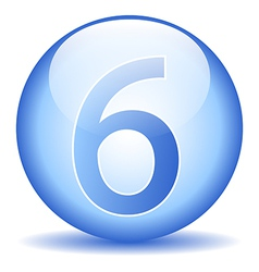 Number six button vector