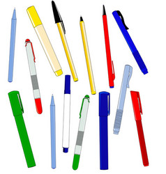 Office pens vector
