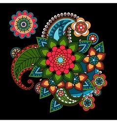 Paisley floral design element vector