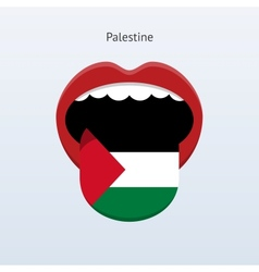 Palestine language Abstract human tongue vector