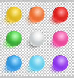 Photorealistic 3D Ball Set Template Bright vector