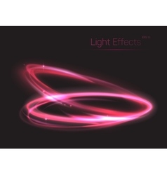 Pink neon ovals or circles for light effect vector