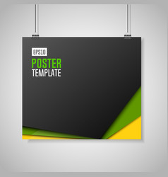 Poster template with clips vector