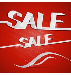 Sale red vector