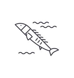 salmon line icon concept salmon linear vector image