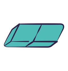 school eraser supply vector image