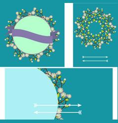 set of templates for birthdayweddinginvitation vector image vector image