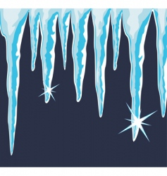 shiny icicles vector image vector image