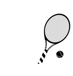 silhouette tennis racket and ball icon vector image