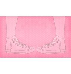 Sneakers pink vector