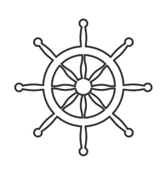 timon boat isolated icon vector image