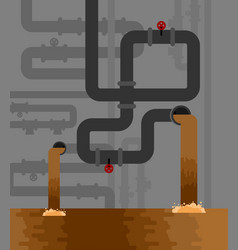Underground sewerage system pipe water supply and vector
