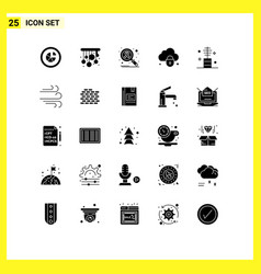 Universal icon symbols group 25 modern solid vector