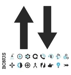Vertical Flip Arrows Flat Icon With Bonus vector