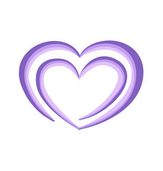 violet heart for greeting card for valentine day vector image