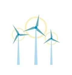 Wind turbine flat icon vector image
