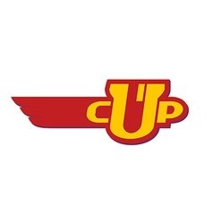 Winner trophy cup logo template vector image